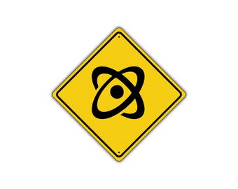 ATOM CROSSING Symbol Science Physics Chemistry Street Metal Aluminum Sign 12x12
