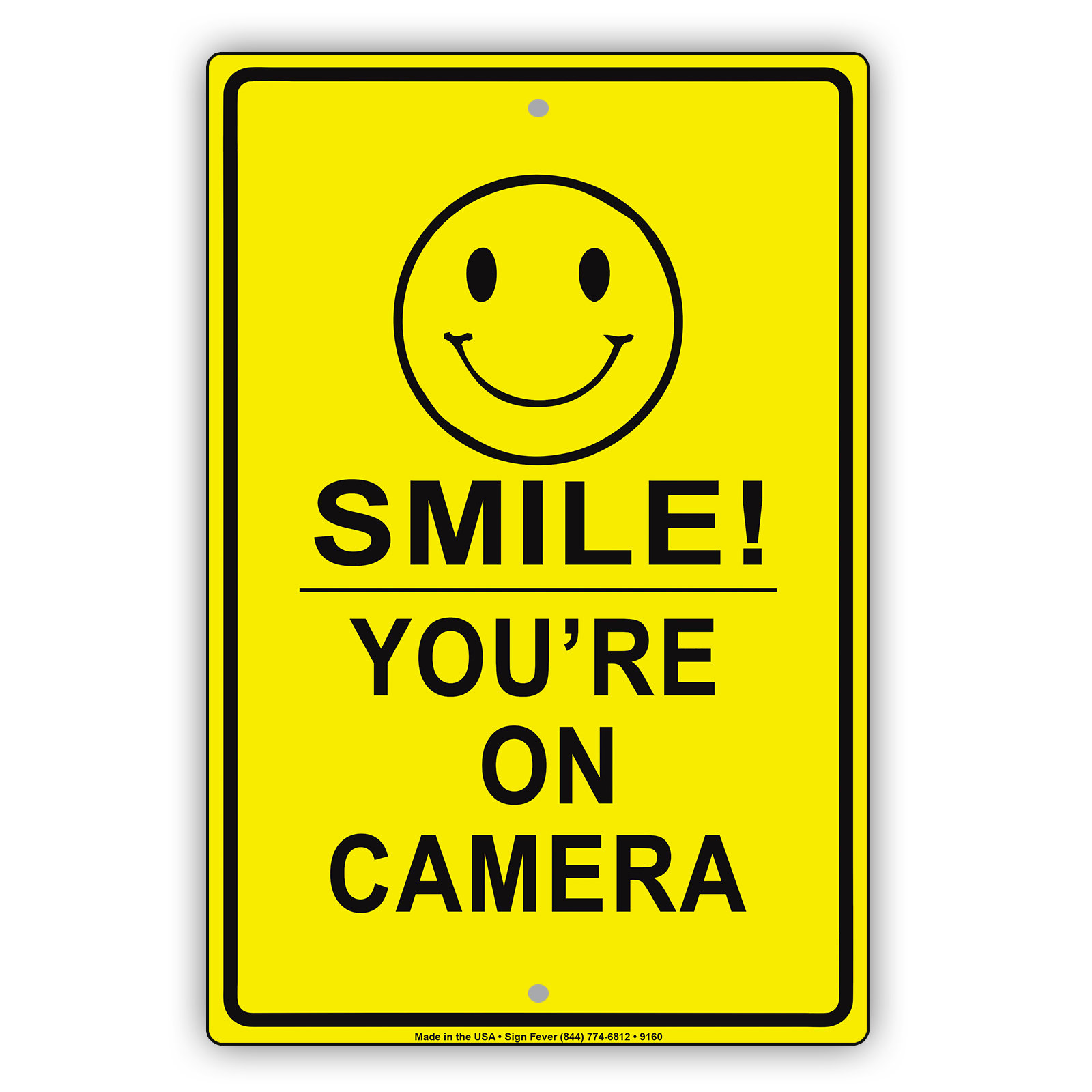 Smile You\'re On Camera Security Sign CCTV Video | Etsy