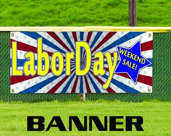 Labor Day Weekend Sale Offer Promotion Vinyl Banner Sign