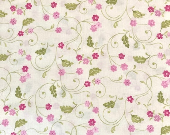 fabric remnant, quilting fabric, end of bolt fabric,cotton remnant,bolt ends fabric,quilt fabric remnant,floral cotton fabric,on sale fabric