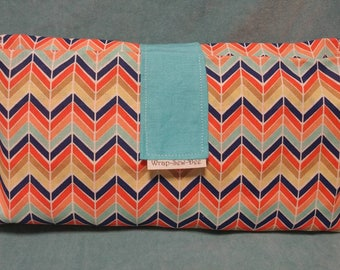 Diaper Wallet, in Bright Multi Chevron Stripes