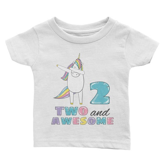 2nd Birthday Shirt Two And Awesome T 2 Years Old