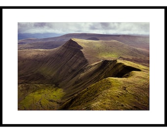 Cribyn, Pen y Fan, Brecon Beacons, Fine Art Prints, Landscape Photography, Wales, Mountains, Atmosphere, Steep, Footpath, Early morning,