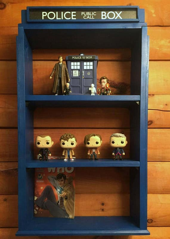 Shelf Tardis TARDIS Bookshelf Bookcase Doctor Who