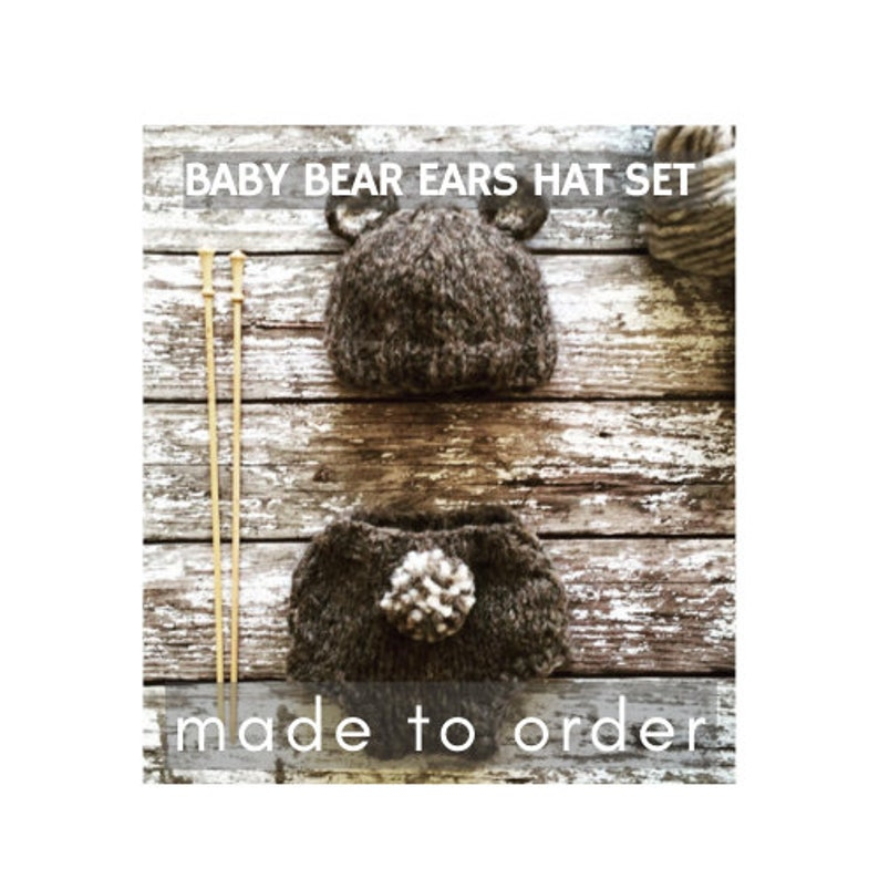 New Baby Teddy Bear Hat and Nappy Pants Set Photo Prop New Baby Gift