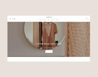 Sofia   Stylish Squarespace 7.1 Website Design Template   For Interiors, Interior Design, Photography, Services Business