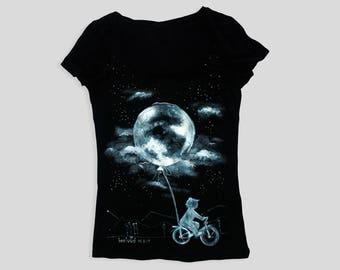 Moon phase, Moon, Moon painting, Moon shirt, Moon tshirt, Moon t shirt, Black shirt, Black moon, Black moon shirt, Full moon, Black tshirt