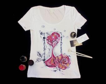Love shirt for her, Love tshirt for her, Love tshirt for woman, Love shirt for woman, Love shirt, Love tshirt, Sand clock shirt, Clock shirt