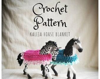 Schleich Pferdecke / Horse blanket pattern (Deutsch + English)