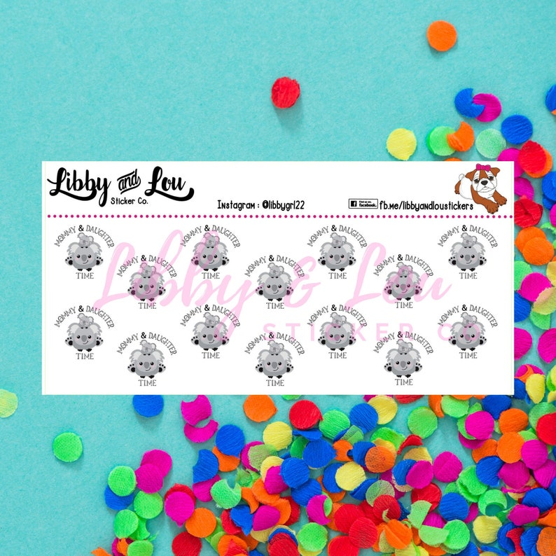 Planner Stickers  Mom & Daughter  Family Time image 0