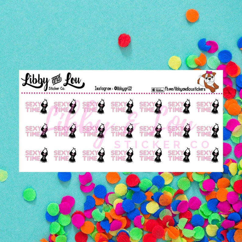 Planner Stickers  Intimacy Tracker  Sex image 0
