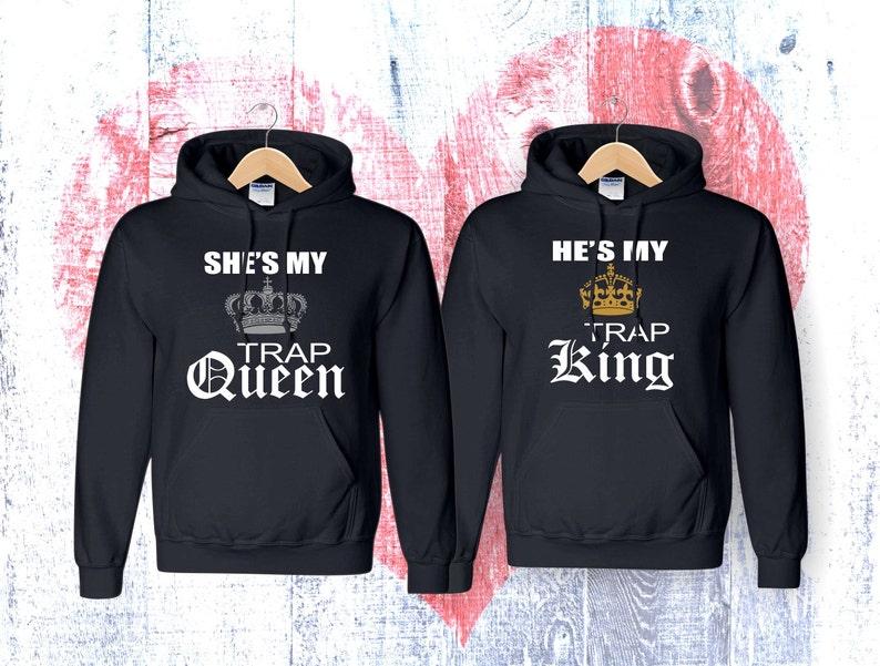97ae81d021 Trap King Trap Queen Sweatshirt King Hoodie Queen Hoodie   Etsy