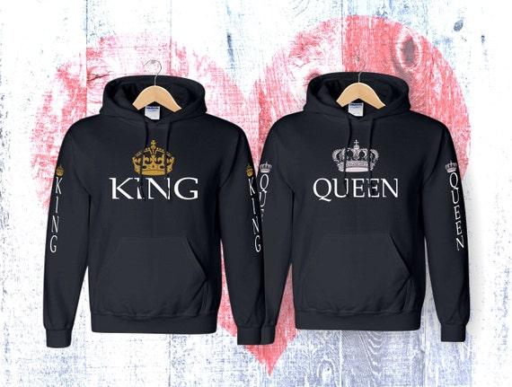 informazioni per cece1 7d421 Coppia di re regina felpa con cappuccio King King Queen felpa felpa con  cappuccio Regina felpa con cappuccio Felpa con cappuccio coppia felpa  coppia ...