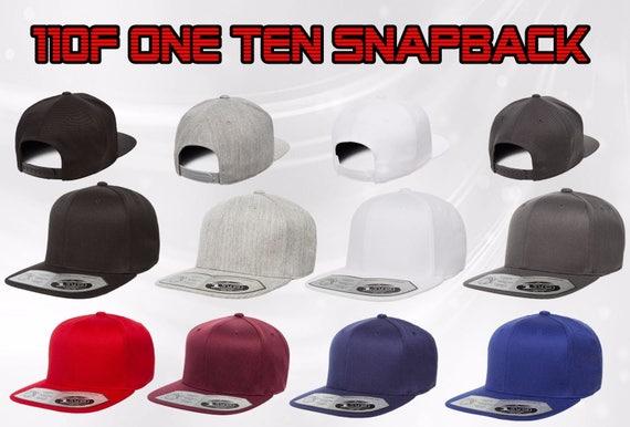 110F One Ten Snapback Flexfit Tech Plain SNAPBACK Hat  ce354e58543a