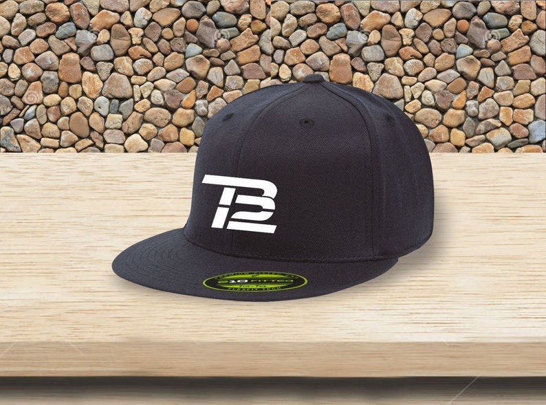1b3058f67cb TB12 TOM BRADY Premium 210 Fitted Flat Brim cap high quality