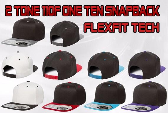 110F 2 Tone Snapback FLEXFIT Tech Plain SNAPBACK Hat  b5f55b1c3120