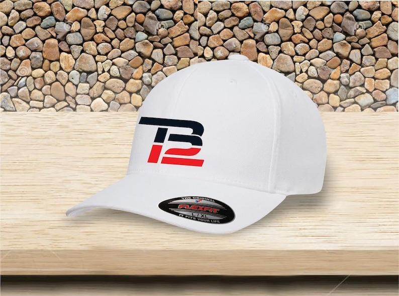 e12159bfc96ee TB12 TOM BRADY flexfit Baseball Cap high quality stitching