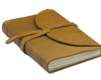 Leather Notepad А5 Olive Beige
