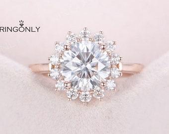Amazon Com 14k Rose Gold Diamond Wedding Ring Minimalist Thin