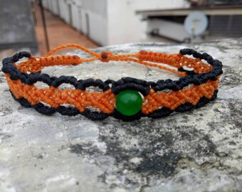 Beautiful Macrame bracelet with jade