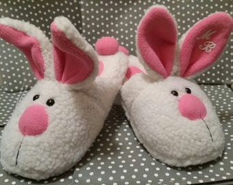 Bunny Slippers - Cute - Personalized - Monogrammed - Gifts - Bridesmaids -  Adult - Womens 100084d25