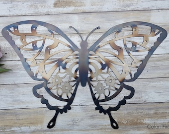 Butterfly, Butterfly art, Butterfly Decor, Butterfly wall art, Butterfly Garden Decor, Garden Signs, Housewarming Gift