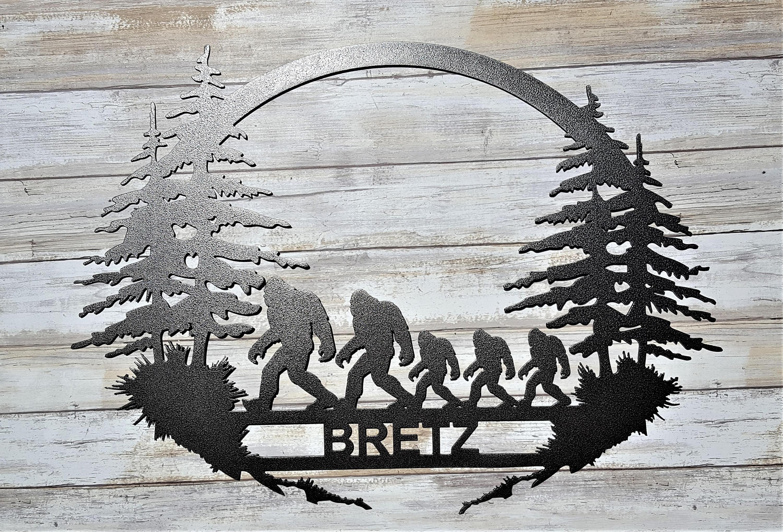 Anniversary Gifts For Men Family Tree Bigfoot Sasquatch Etsy