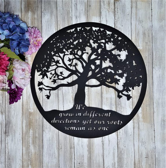 Metal Tree of Life Wall Art Outdoor Metal Tree art Outdoor | Etsy