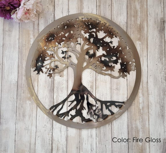 Tree of Life Metal Tree Wall Art Outdoor Metal Art Family | Etsy