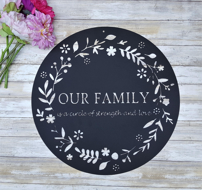 Iron Wedding Anniversary Gift: Iron Anniversary Gift Family Quote Sign Circle Of Strength
