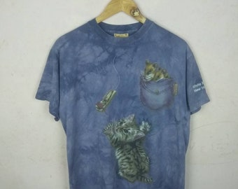 6a3f703fb Vintage tie dye Cat x The Mountain Tshirt copyright 2000 the mountain nice  print and design very good condition made in usa fendi gucci ysl
