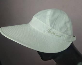 f475329a Vintage MCM Legere sun cap..bucket hat..beach cap embroidery logo..very excellent  condition fendi gucci versace yves Saint Laurent tommy