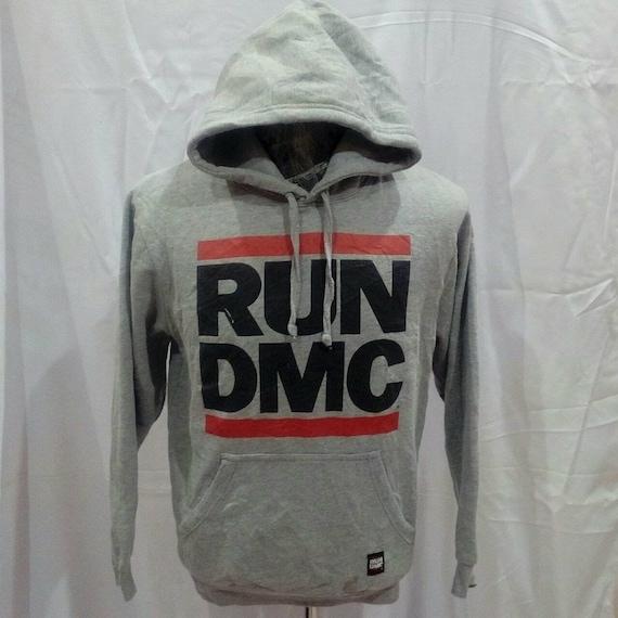 Mens Run DMC Zip Hoodie Grey