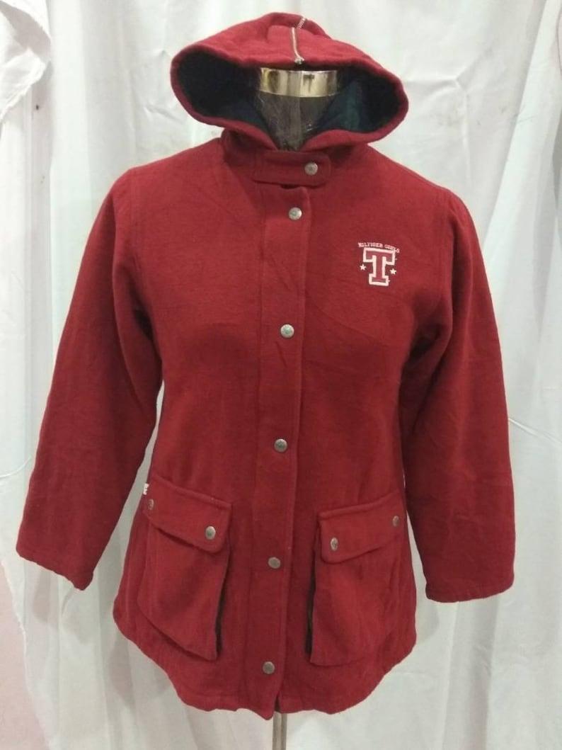 3318526c40f2 Vintage Tommy Hilfiger suede woman jacket hoodie.. condition