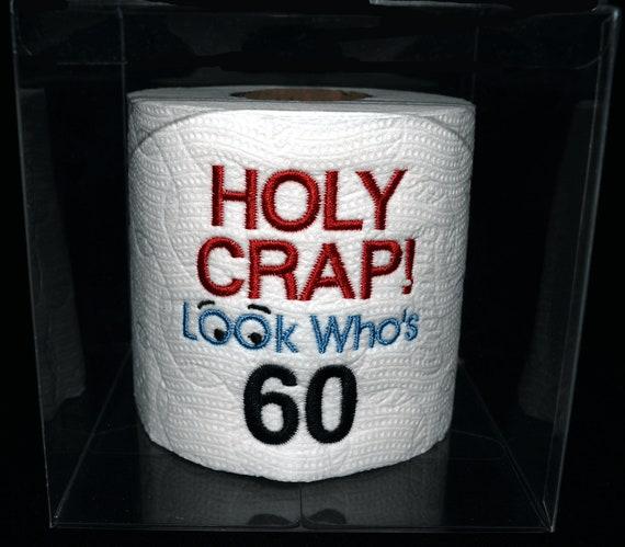 Happy 60Th Birthday Toilet Paper Prank Funny Gag Gift!