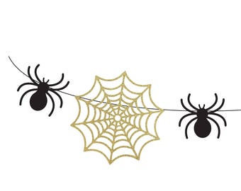 Spider and web garland