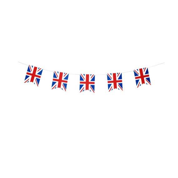 British Theme Bunting 3 metre Union Jack Fabric Banner Handmade