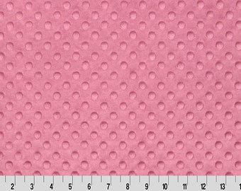 Minky Dusty Rose Pink Dimple Shannon Fabric By The Yard Cuddle Destash