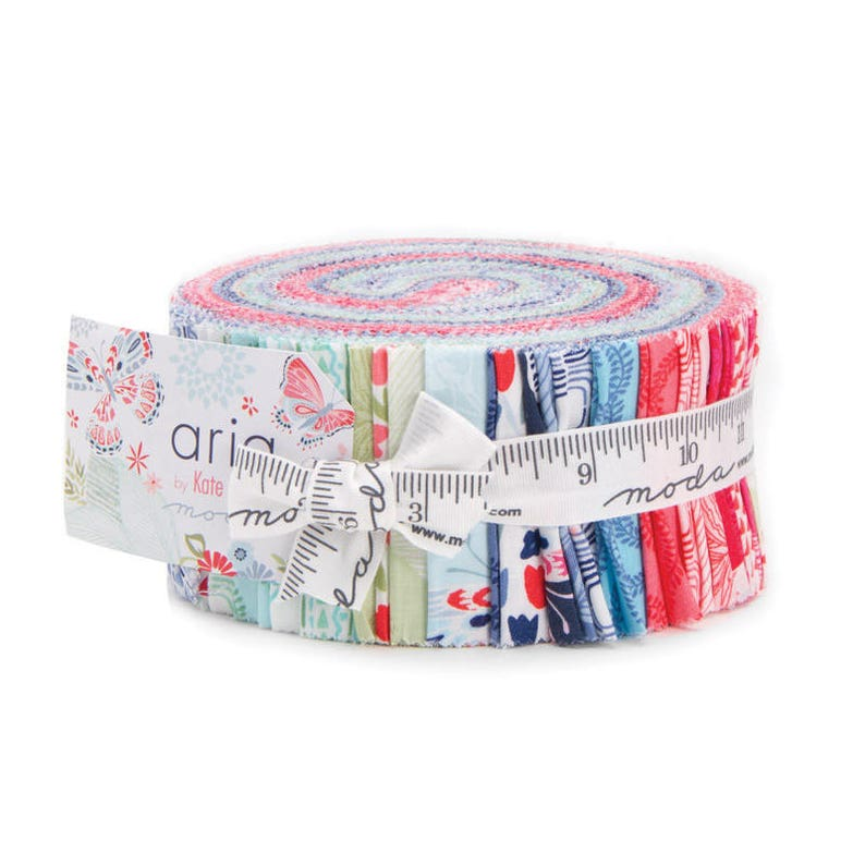 Kate Spain Jelly Roll Jelly Rolls Fabric Aria Jelly Roll Jelly Roll Aria Jelly Roll by Kate Spain for Moda Fabrics Moda Jelly Roll