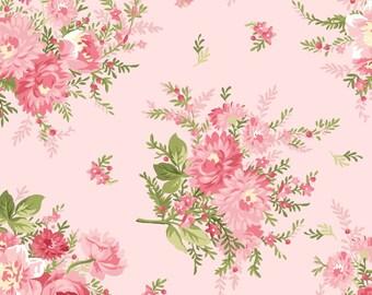 Floral Bouquet - Heather by Jennifer Bosworth for Maywood Studio - Floral Fabrics - Heather Fabrics - Jennifer Bosworth Fabrics - Cotton