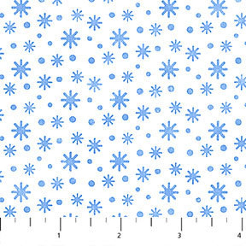Snow Bears Snowflakes White Green Flannel Northcott Fabrics by the 1//2 yard