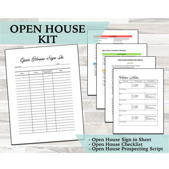 picture regarding Printable Open House Sign in Sheet titled Open up Room Package - Indication Inside of Sheet - Countdown List