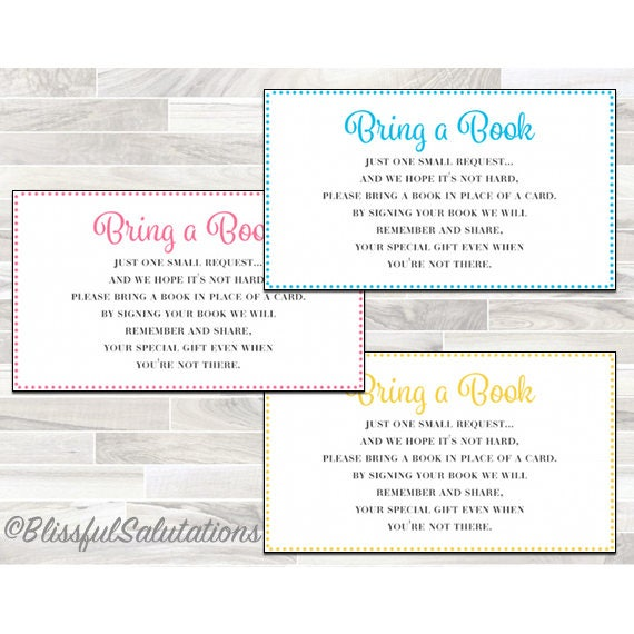 photo relating to Bring a Book Baby Shower Insert Free Printable identified as Little one Shower Printable Child Shower Provide a Reserve Card, Provide a