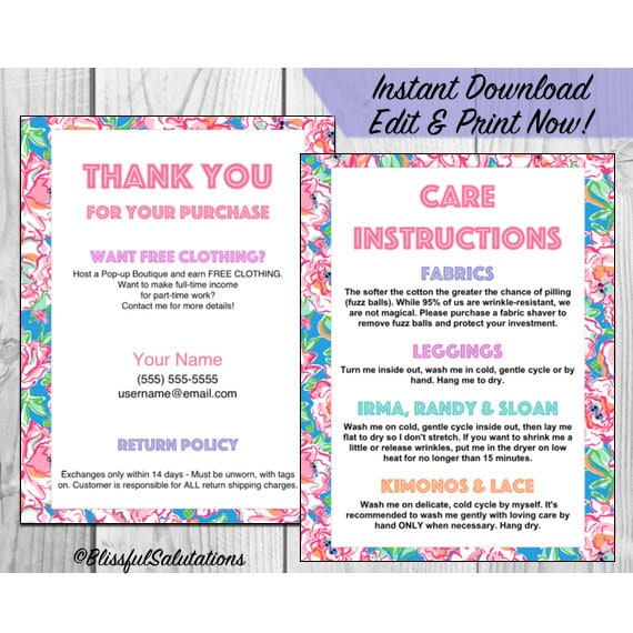 llr thank you and care cards edit and print 4 cards per sheet