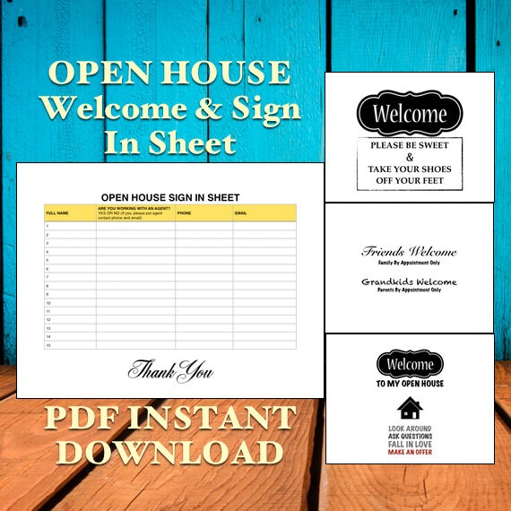 open house welcome sign  realtor  real estate  open house