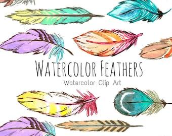 Röcke Boho Watercolor Feathers Midi Pencil Skirt Damenmode