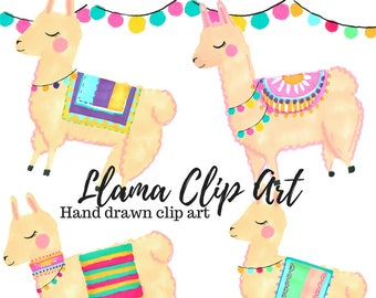 Llama Clip Art - Animal clip art - Cute clip art - Hand drawn - Llama Art - commercial use