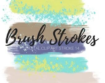 brush stroke clip art ink splatter clip art paint brush etsy