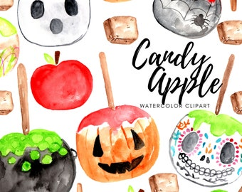 Candy Apple Clipart Etsy