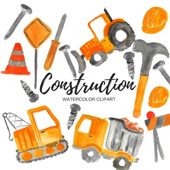Construction clipart Tools clipart Watercolor clipart   Etsy  Construction